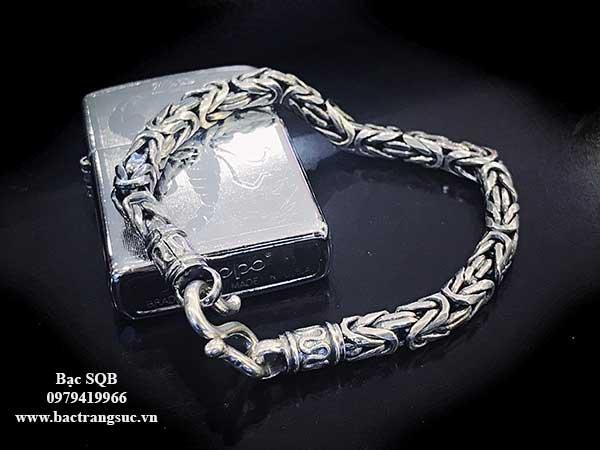 Lắc tay bạc nam BRA-1474A