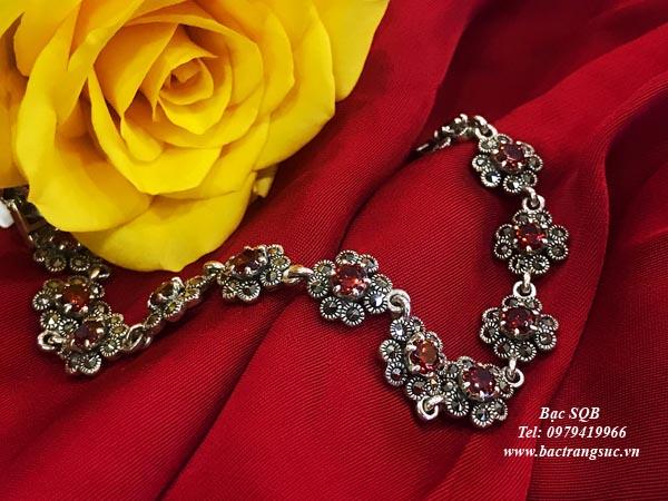 Lắc tay bạc nữ BRA-846