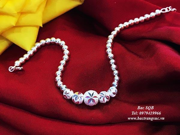 Lắc tay bạc nữ BRA-1482