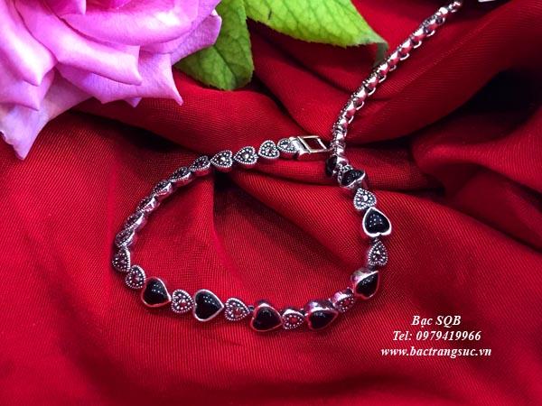 Lắc tay bạc nữ BRA-1455