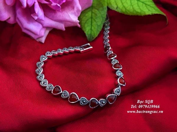 Lắc tay bạc nữ BRA-1453