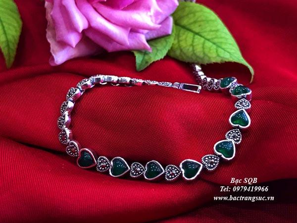 Lắc tay bạc nữ BRA-1454