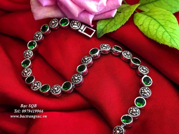 Lắc tay bạc nữ BRA-1325