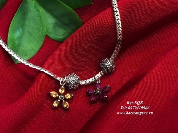 Lắc tay bạc nữ BRA-1457