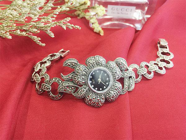 Đồng hồ bạc nữ WA-163