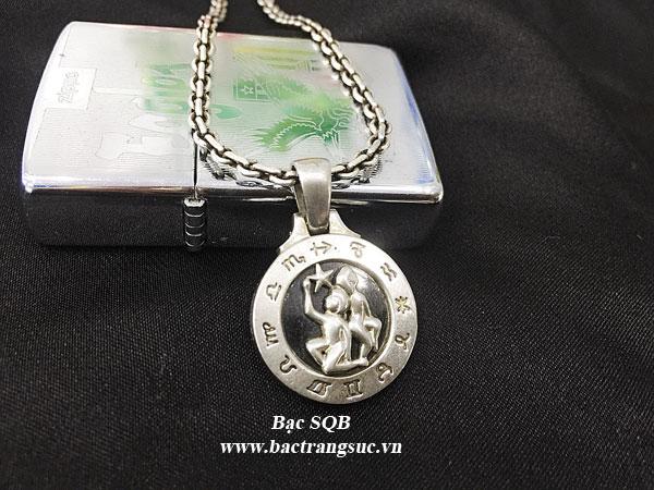 Mặt dây chuyền bạc nam PD-2330