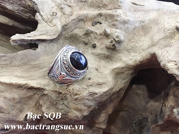 Nhẫn bạc nam RI-2854