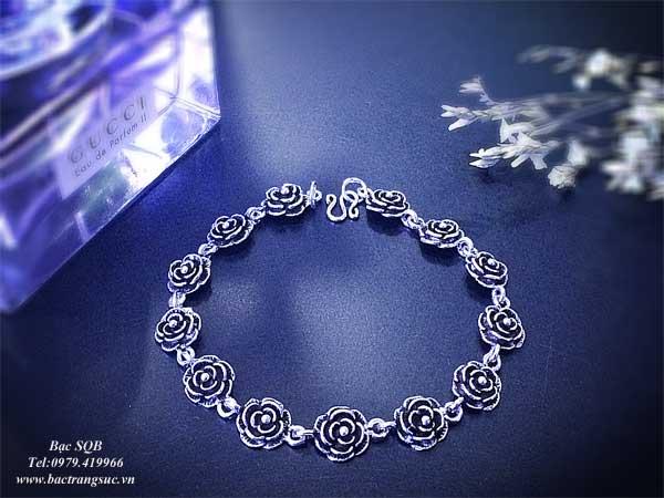 Lắc tay bạc nữ BRA-1073