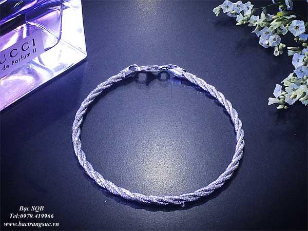 Lắc tay bạc nữ BRA-1095