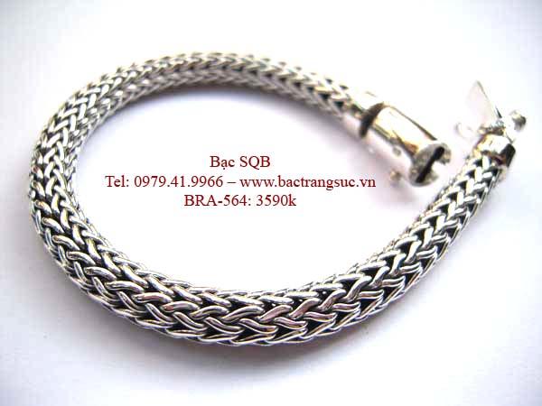 Lắc tay bạc nam BRA-564