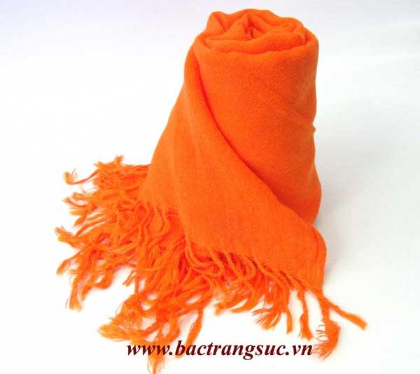 Khăn Pashmina màu cam