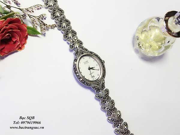 Đồng hồ bạc Thái Lan mặt bướm
