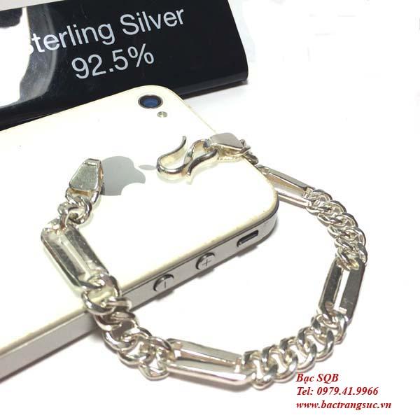 lắc tay bạc nam BRA-422