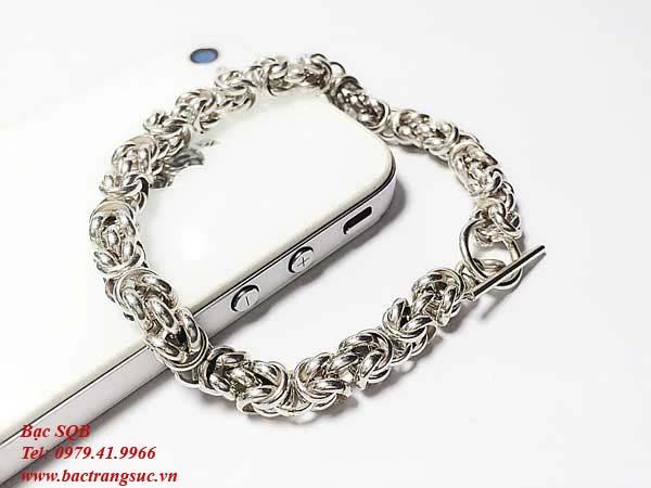 Lắc tay bạc nam BRA-636