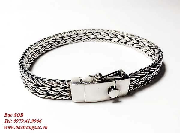 Lắc tay bạc nam BRA-742