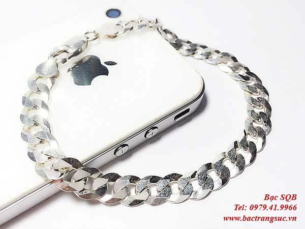Lắc tay bạc nam BRA-981