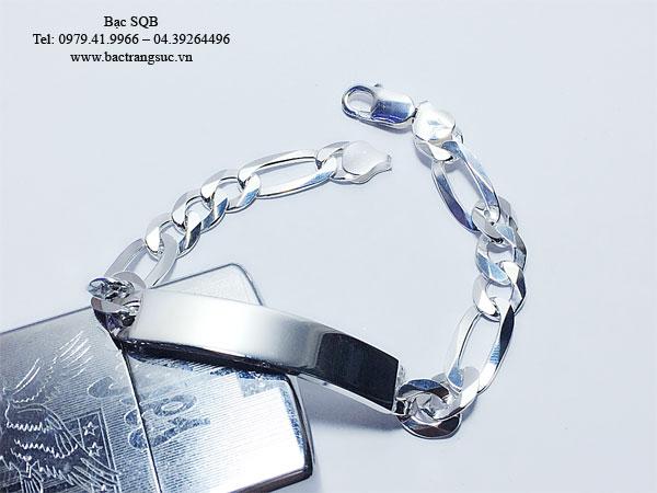 Lắc tay bạc nam BRA-1239