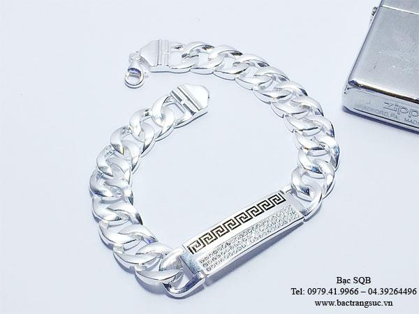 Lắc tay bạc nam BRA-1240