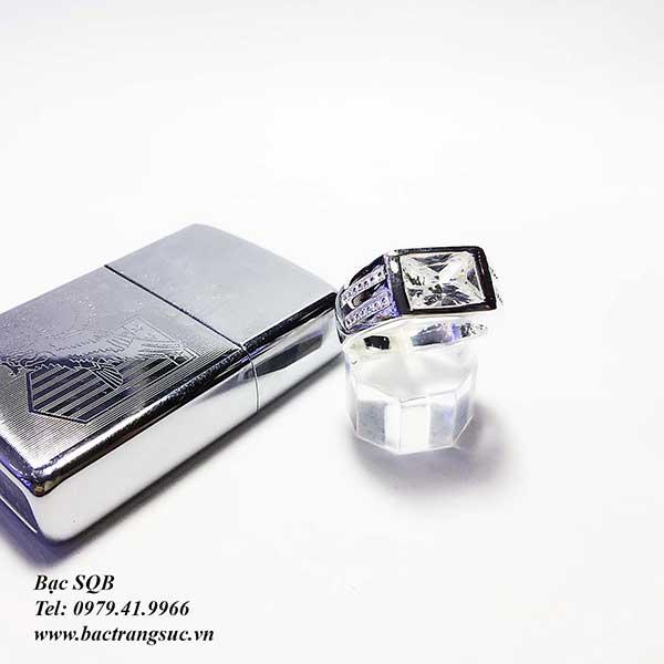 Nhẫn bạc nam RI-2596