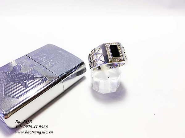 Nhẫn bạc nam RI-2601