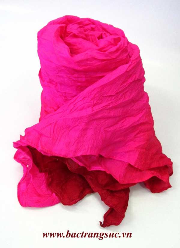 Khăn quẩy lụa 2 màu hồng sen nữ tính